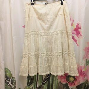 Vintage Feminine Cotton Skirt